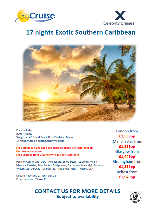 7-night Southern Caribbean Cruise | Frosch Vacations