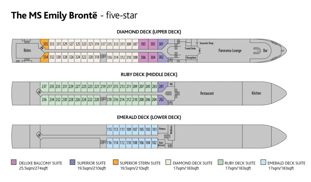Ms Emily Bronte Deck Plan Go Cruise Club
