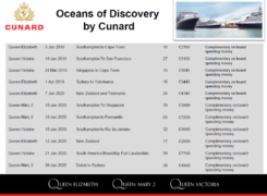 Cunard Oceans of Discovery