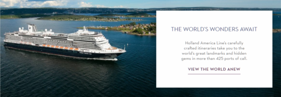 Holland America bookings